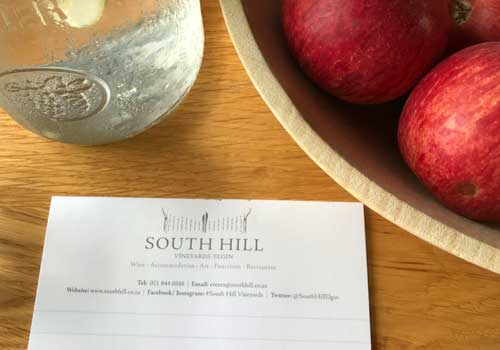 South Hill form next to a fruit bowl