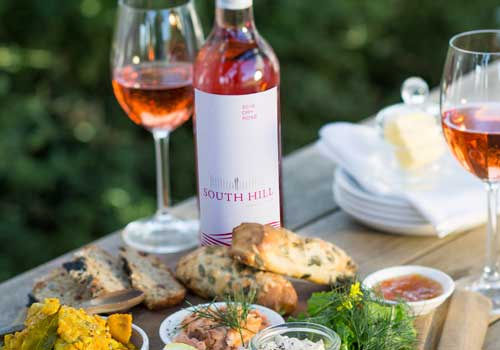 Cheeseboard with the South Hill Rosé