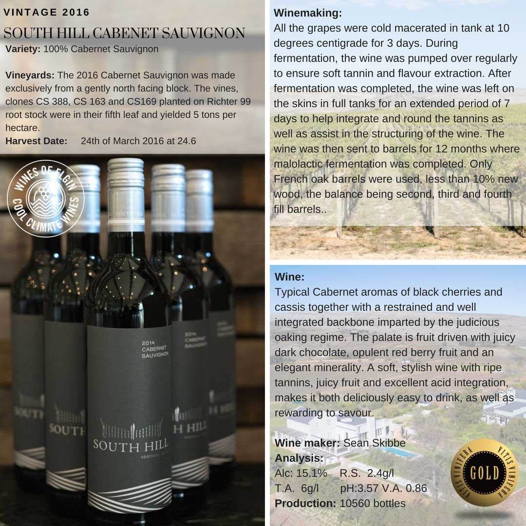 South Hill Cabrnet Sauvignon Tasting Notes