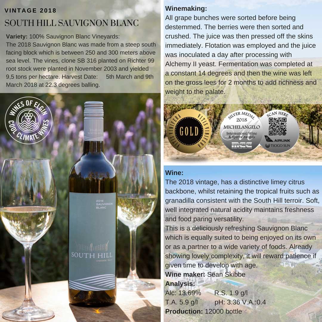 South Hills Sauvignon Blanc Tasting Notes